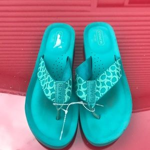 Coach jessalyn blue sandals size 7B